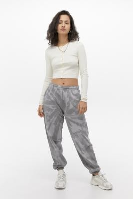 Urban Outfitters Iets Frans... iets frans. Charcoal Tie-Dye Joggers - grey XS at