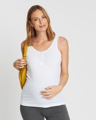 Cotton On Maternity Maternity Henley Sleeveless Tank