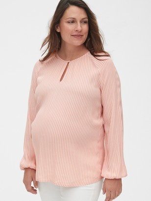 Gap Maternity Stripe Keyhole Top
