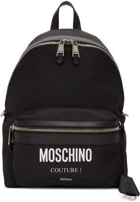 Moschino Black Couture Backpack
