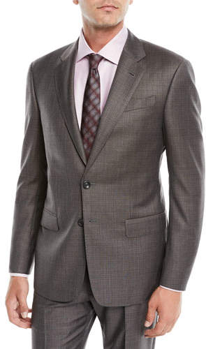 Giorgio Armani Men's Melange Two-Piece Wool Suit
