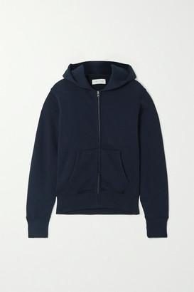 LES TIEN Cotton-jersey Hoodie - Navy