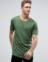 Jack and Jones Originals T-Shirt In Wash With Curved Hem And Crinkle Effect