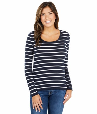 Tommy Hilfiger Womens Long Sleeve Scoop Neck Tee T Shirt