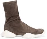 Rick Owens + adidas Originals suede ankle boots