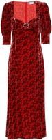 Thumbnail for your product : Rixo Karen floral velvet midi dress