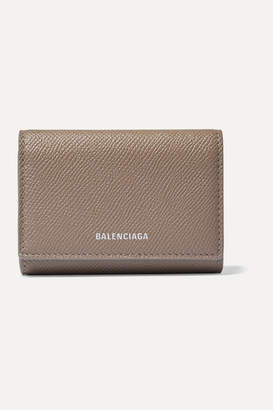 Balenciaga Ville Printed Textured-leather Cardholder - Brown