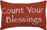 B. Smith Park ''Count Your Blessings'' Red Throw Pillow