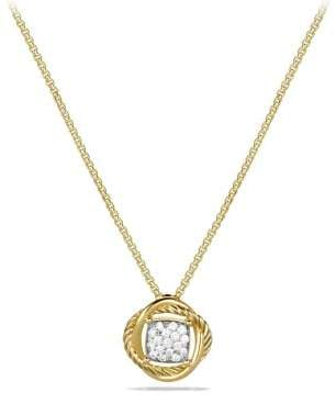 David Yurman Infinity Pendant Necklace With Diamonds In 18K Gold