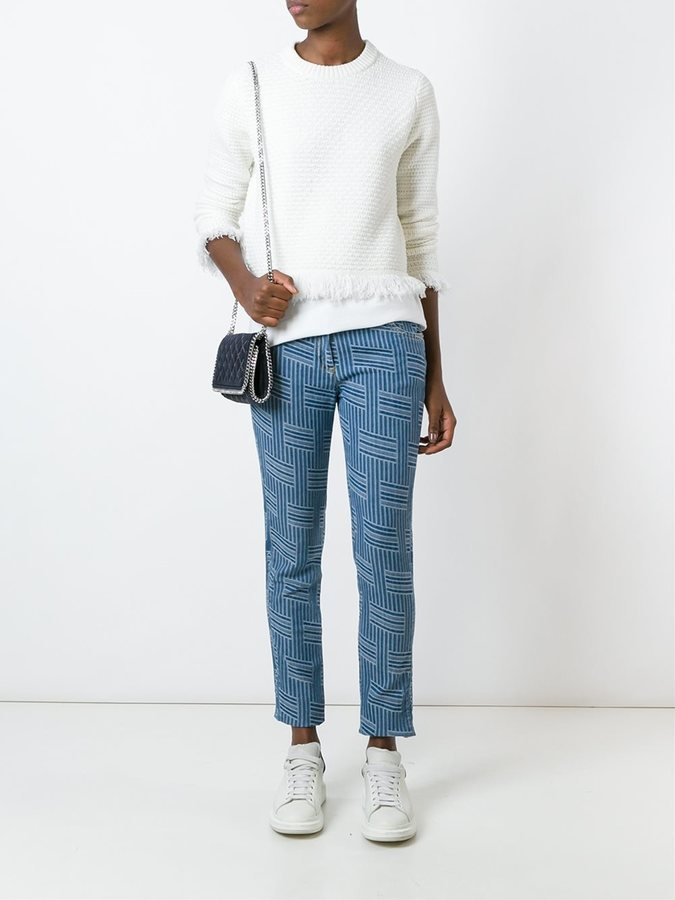 Kenzo 'NY Stripes' slim-fit jeans