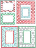 Very Geo Colour Wall Art Kit Picture Frames