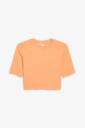 Monki Cropped sporty tee