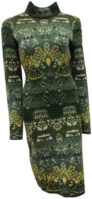 Mary Katrantzou Green Wool Dress for Women
