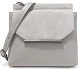 Halston Suede And Leather Shoulder Bag