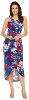 Adrianna Papell Halter neck High Low Wrap Dress Women's Dress