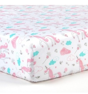 Tadpoles 2 Piece Microfiber Crib Fitted Sheet Set