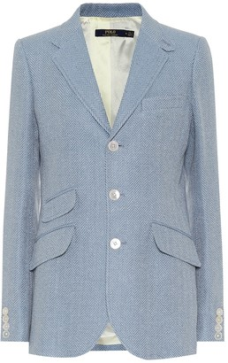 Polo Ralph Lauren Linen and silk herringbone blazer