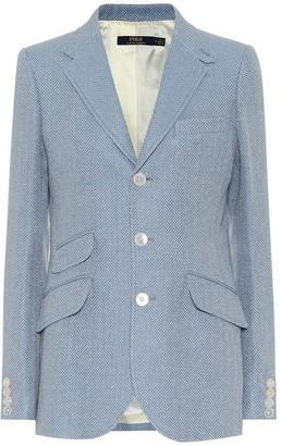 Polo Ralph Lauren Linen and silk herringbone blazer