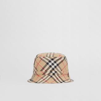 Burberry Childrens Vintage Check Cotton Bucket Hat
