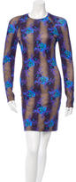 Christopher Kane Floral Print Fitted Dress