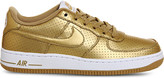 Nike Force 1 metallic trainers
