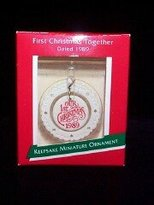 Hallmark First Christmas Together Miniature 1989 ornament