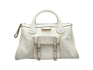 Chloé Edith White Leather Handbags