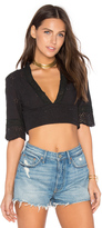 Somedays Lovin Evie Wrap Crop Top