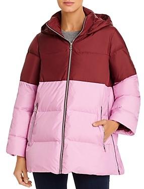 Kate Spade Color-Blocked Puffer Coat