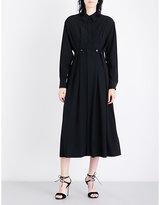 Sportmax Oxalis oversized silk-crepe shirt dress