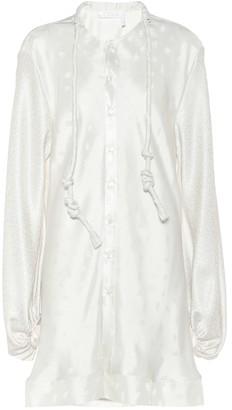 Chloã© Silk jacquard blouse