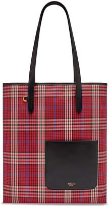 Mulberry Tartan Check Canvas Tote Scarlet London Tartan Check