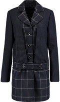 Marissa Webb Max Pinstriped And Checked Wool-Blend Coat