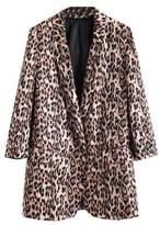 Goodnight Macaroon 'Doanne' Leopard Print Blazer