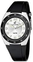 Calypso Men's Quartz Watch with Silver Dial Analogue Display and Black Plastic Strap K6044/C