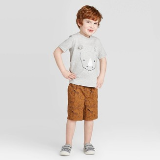 Just One You Made By Carter's Toddler Boys' 2pc Rhino Top and Bottom Set - Just One You® made by carter's Gray/Brown