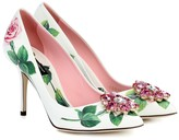 Dolce & Gabbana Embellished floral leather pumps