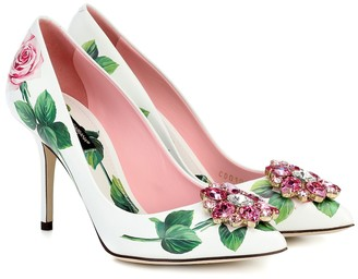 Dolce & Gabbana Bellucci floral leather pumps