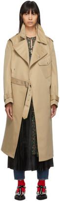 Junya Watanabe Beige Gabardine Trench Coat