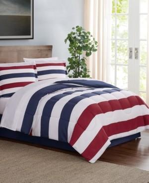 Pem America Modern Stripe 8-Pc. Queen Comforter Set, Created for Macy's Bedding