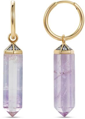 Noor Fares 18K Yellow Gold Amethyst Crystal Earrings