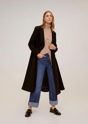 MANGO Combined high collar sweater light/pastel grey - S - Women