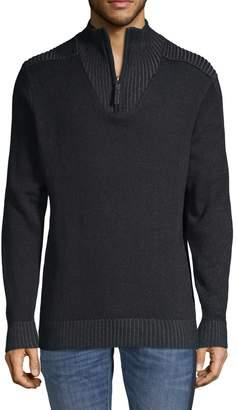 ProjekRaw Projek Raw Quarter-Zip Cotton-Blend Sweater