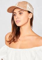 Missy Empire Nicki Beige Metallic Velvet Cap
