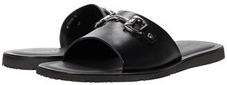 Massimo Matteo Leather Slide with Bit (Black) Men's Shoes