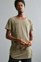 Urban Outfitters Embroidered Long Loose Scoopneck Tee