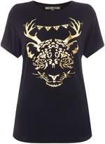 Biba Leopard antlers christmas t-shirt