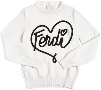 Fendi Cotton & Cashmere Blend Knit Sweater