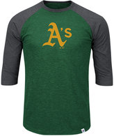 Majestic Men's Oakland Athletics Grueling Raglan T-Shirt