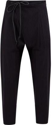 Attachment Pinstriped Harem Trousers